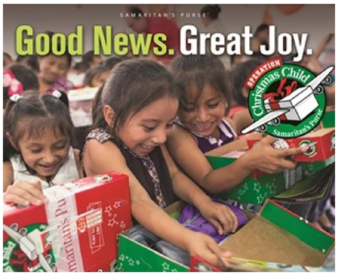 Samaritan's Purse Operation Christmas Child Shoebox